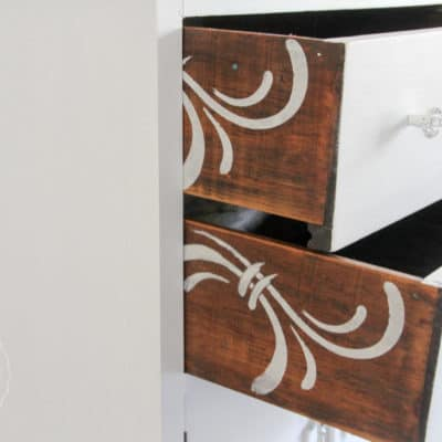 A Cabinet Makeover & Drawer Surprise