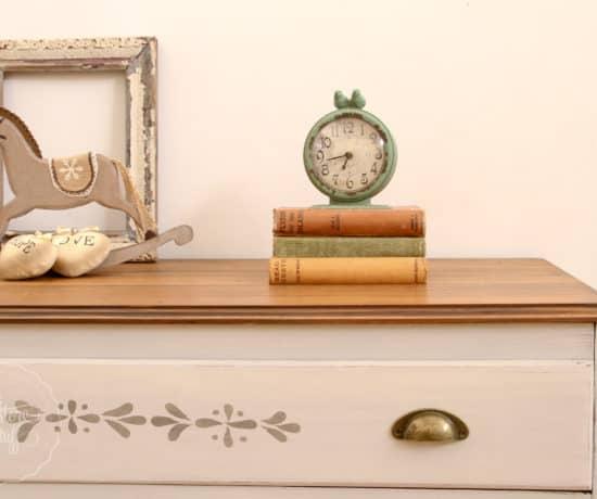 Dresser with Nancy Stencil