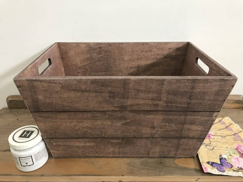 Kmart wooden crate
