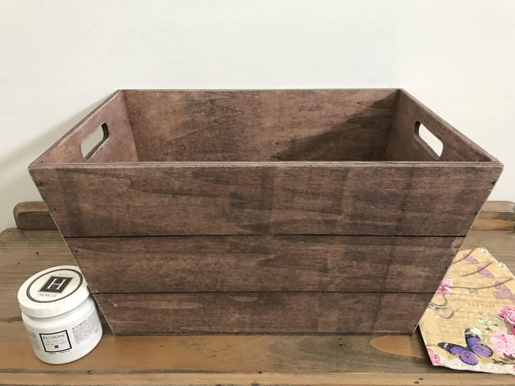 Kmart wooden crate