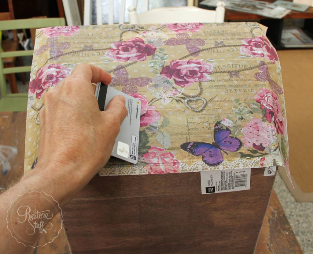 Decoupage with napkins