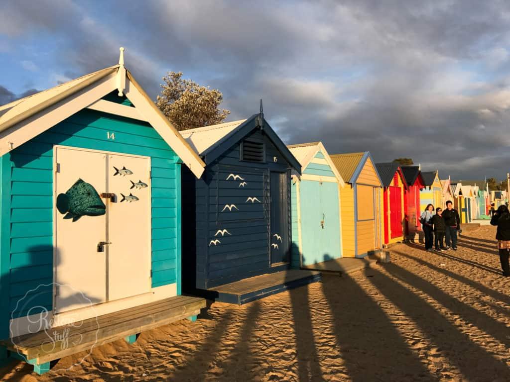 Brighton Bathing boxes on our Melbourne trip