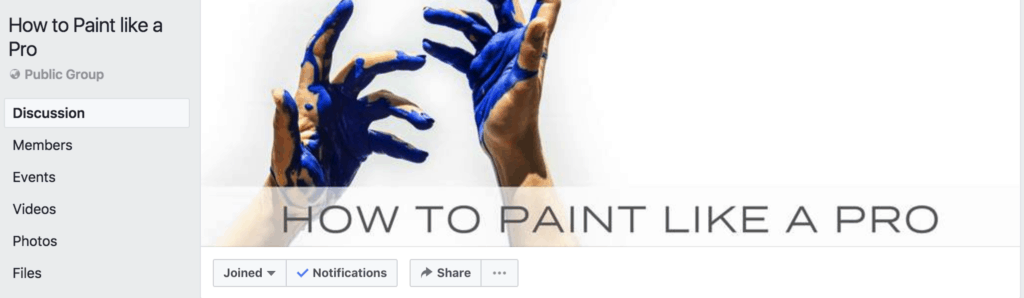 How to Paint Like a Pro group