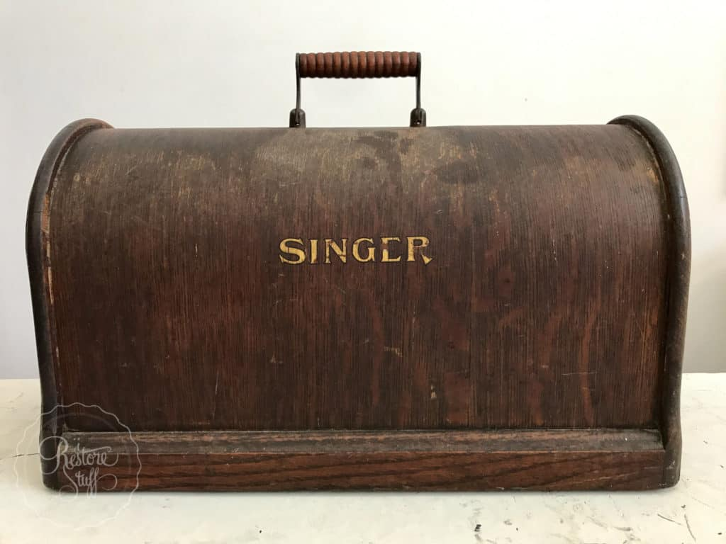 Antique Singer Box Removing Substrate