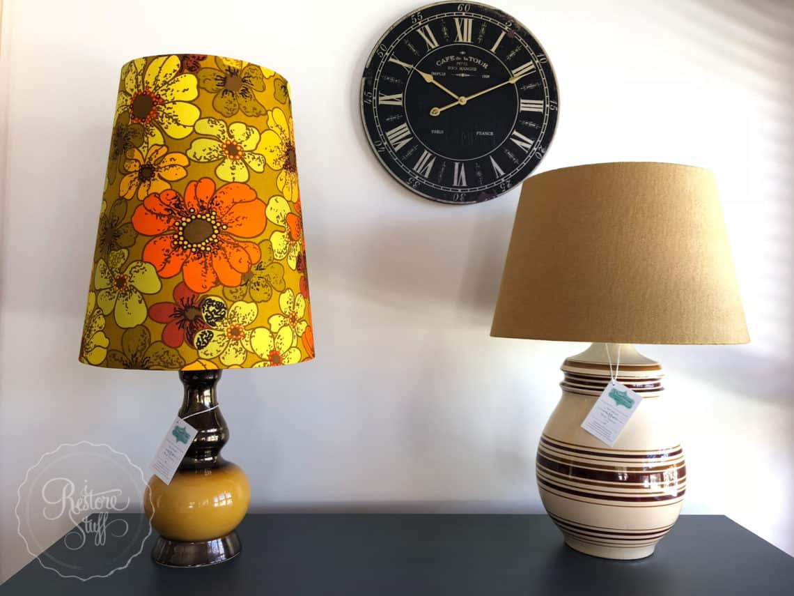 Vintage lampshade workshop upcycling old lamps i restore stuff chalk paint on her furniture projects and has also used fusion mineral paint on her lamp bases occasionally to revamp an old lamp lampshade workshop aloadofball Choice Image