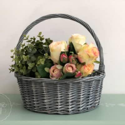 Easy Cane Basket DIY Hack – Create a French Country Basket!