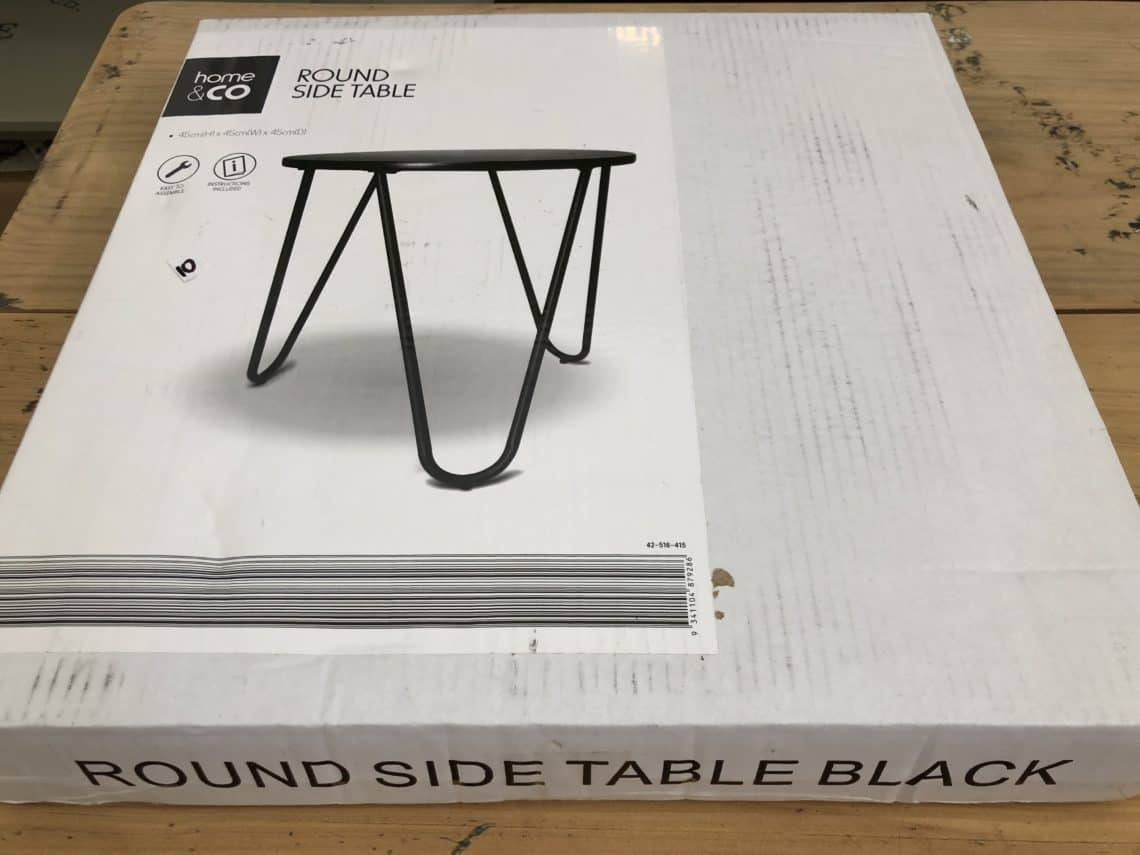 Kmart table hairpin legs