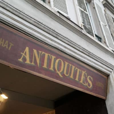 An Antique Store in Vercailles, France