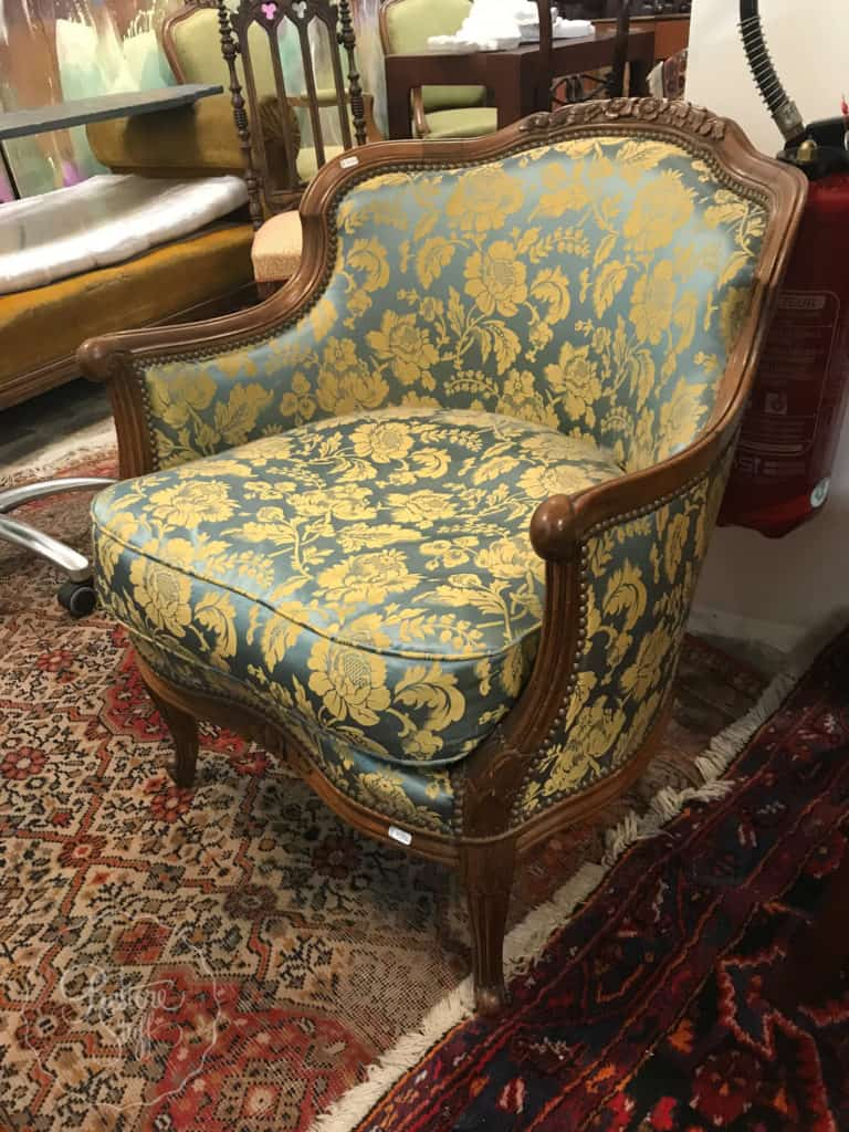 chair in Antique Store Versailles, France