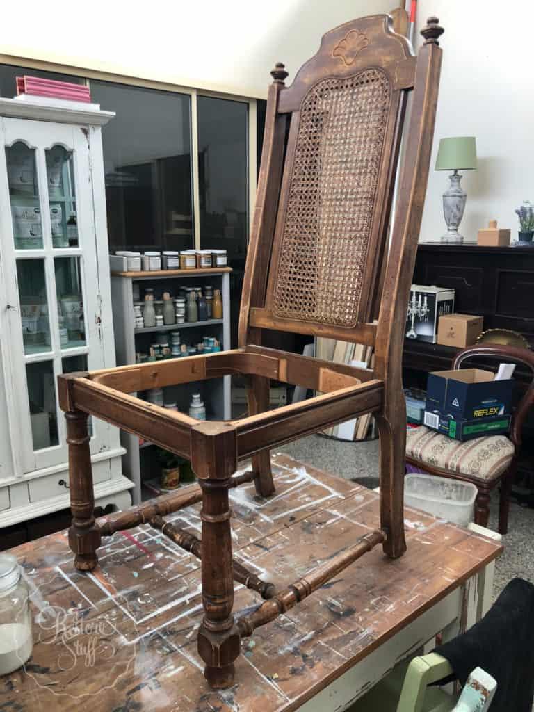 Rattan back chairs