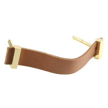 Faux leather handle camel