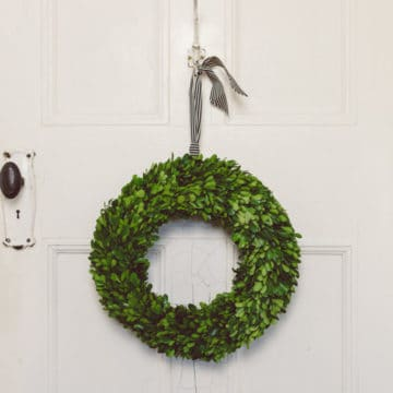 Preserved boxwood wreath Australia