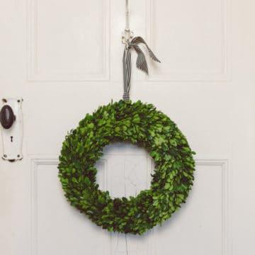 Preserved boxwood wreath Australia