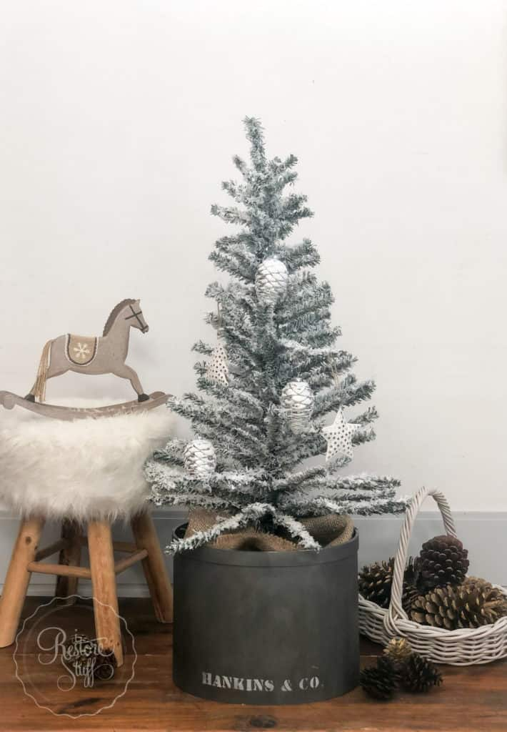DIY flocked tree
