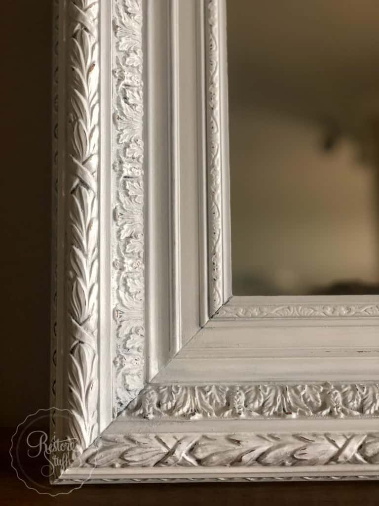 Zinc wax on Antique ornate frame
