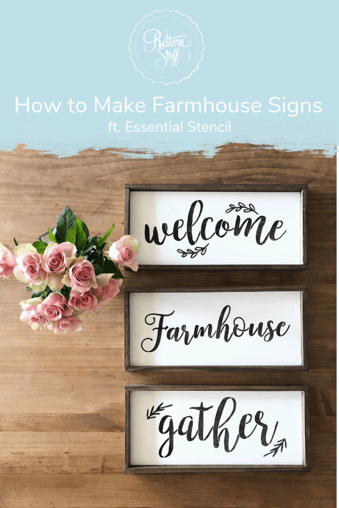 farmhouse sign by essential stencil