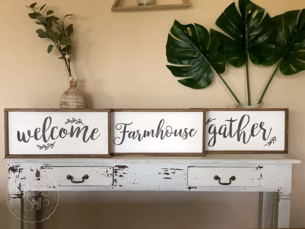 farmhouse sign stencils by Essential Stencil