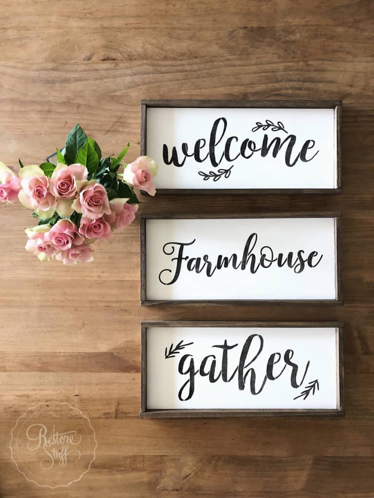 Farmhouse Sign stencils from Essential Stencil