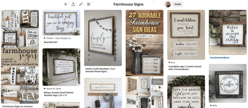 Farmhouse Sign Pinterest Board