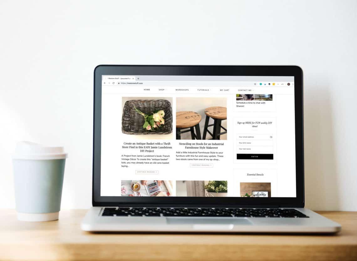 I Restore Stuff website on Macbook pro laptop