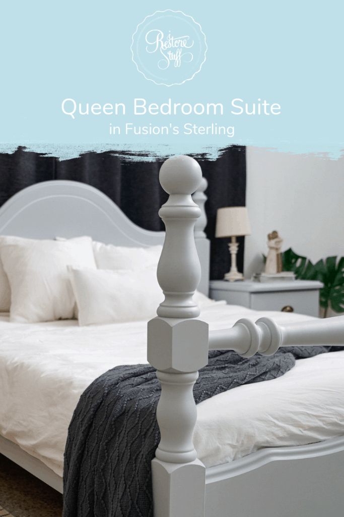 Queen Bedroom Suite Makeover In Fusion Mineral Paint Sterling