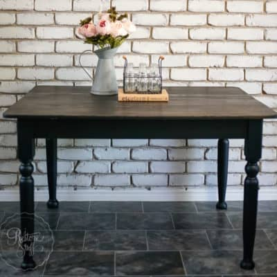 Have you painted a Black Farmhouse Table?