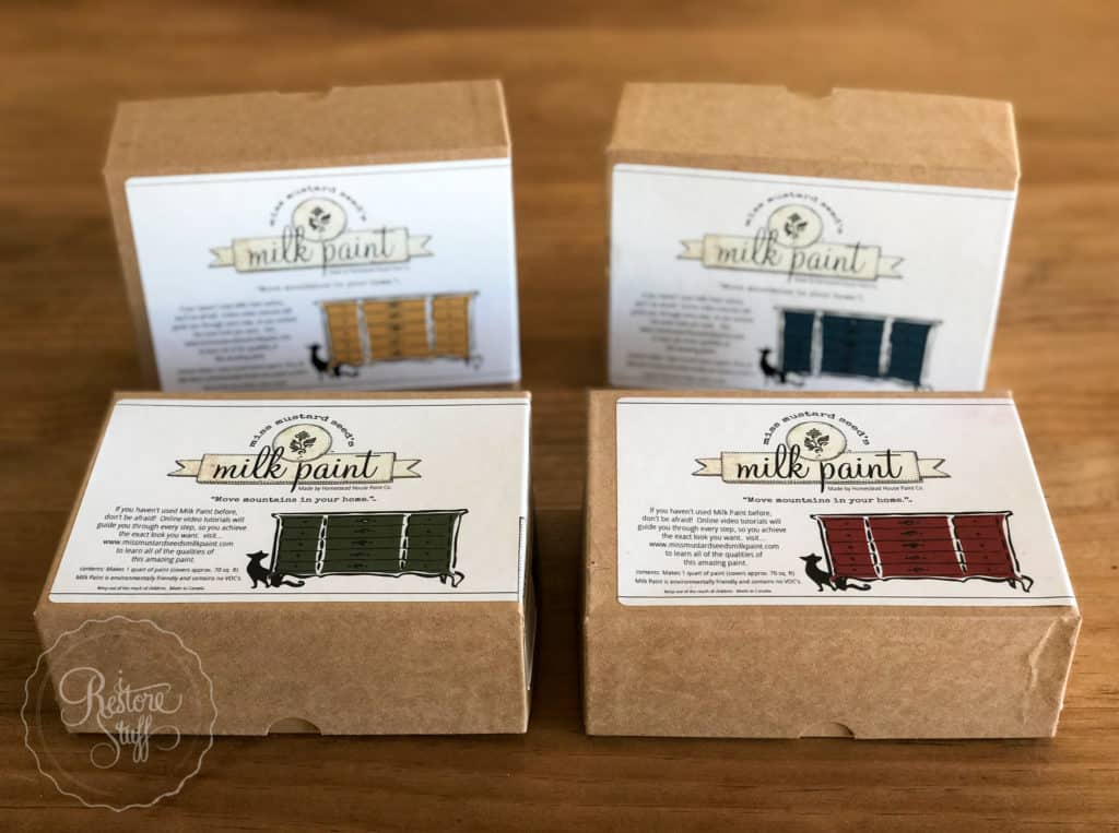 Miss Mustard Seed's milk Paint boxes