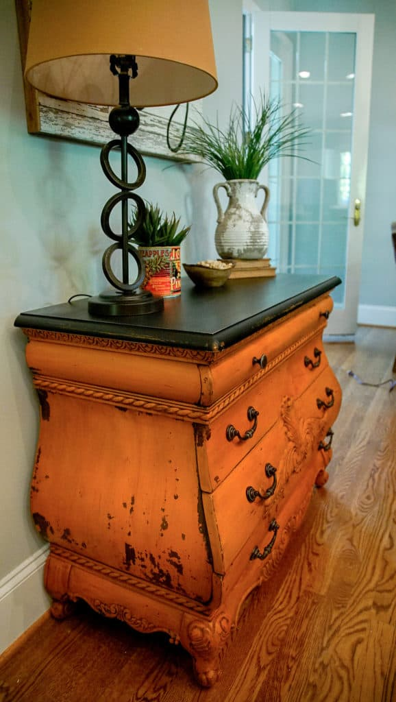 Outback petticoat bombay chest while Painting in the USA