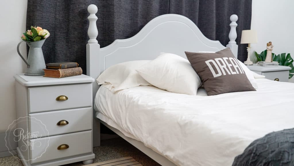 Queen bed in Sterling - by Fusion Mineral Paint