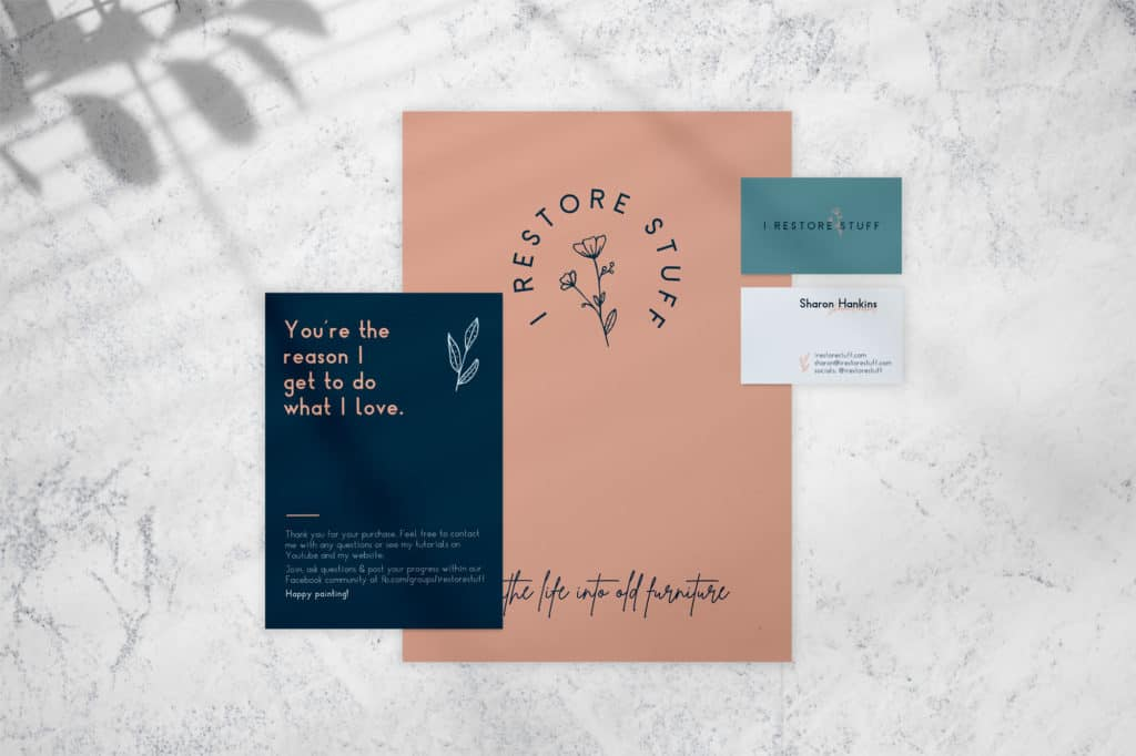 Branding collateral for I Restore Stuff