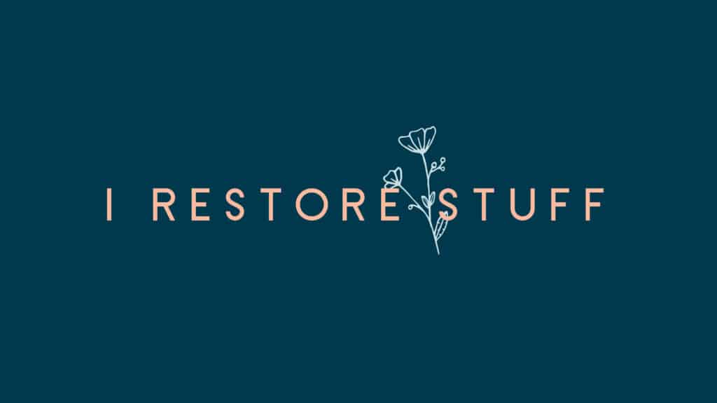 I Restore Stuff logo, branding