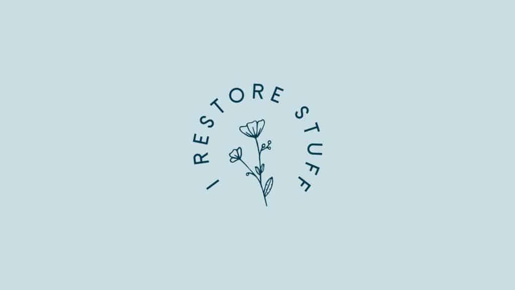 round logo, branding for I Restore stuff