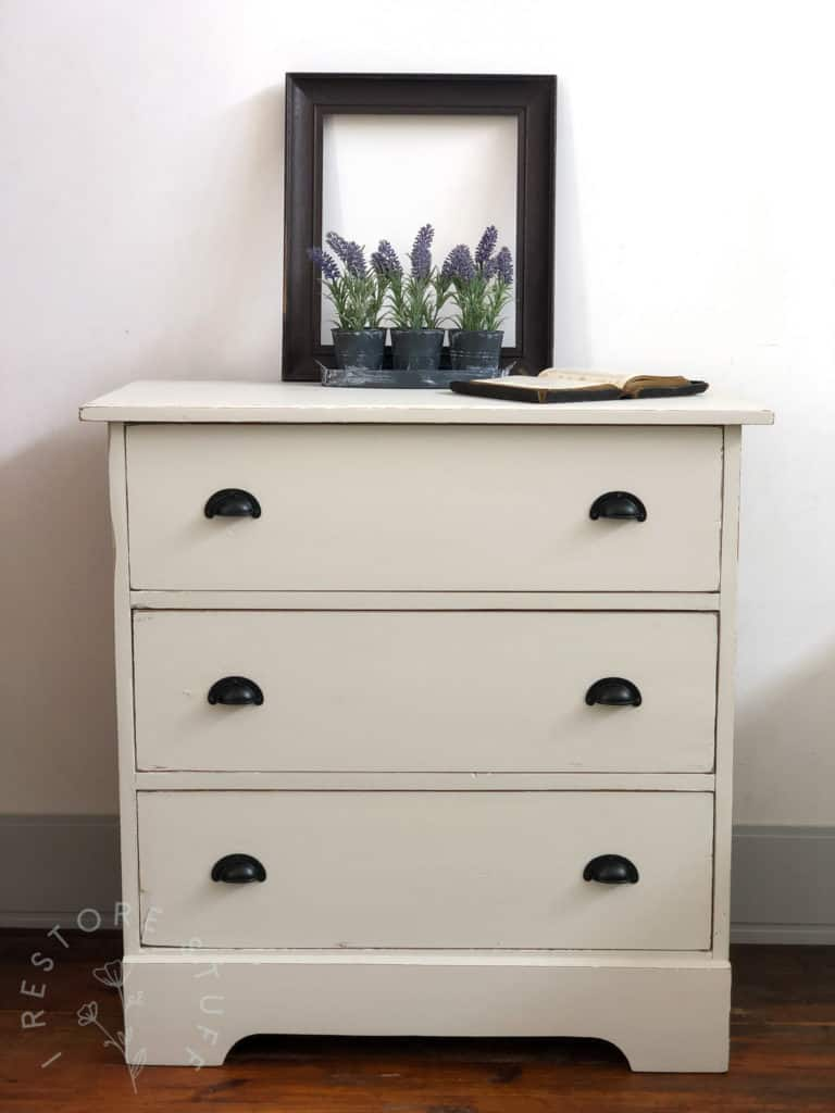antique drawers in one of the new colours from Fusion Mineral Paint, Goddess Ashwagandha.