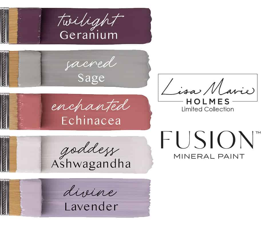 Lisa Marie holmes Fusion Mineral Paint collection. New colours to Australia.