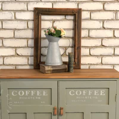 Coffee Station Sideboard in Fusion's Sacred Sage