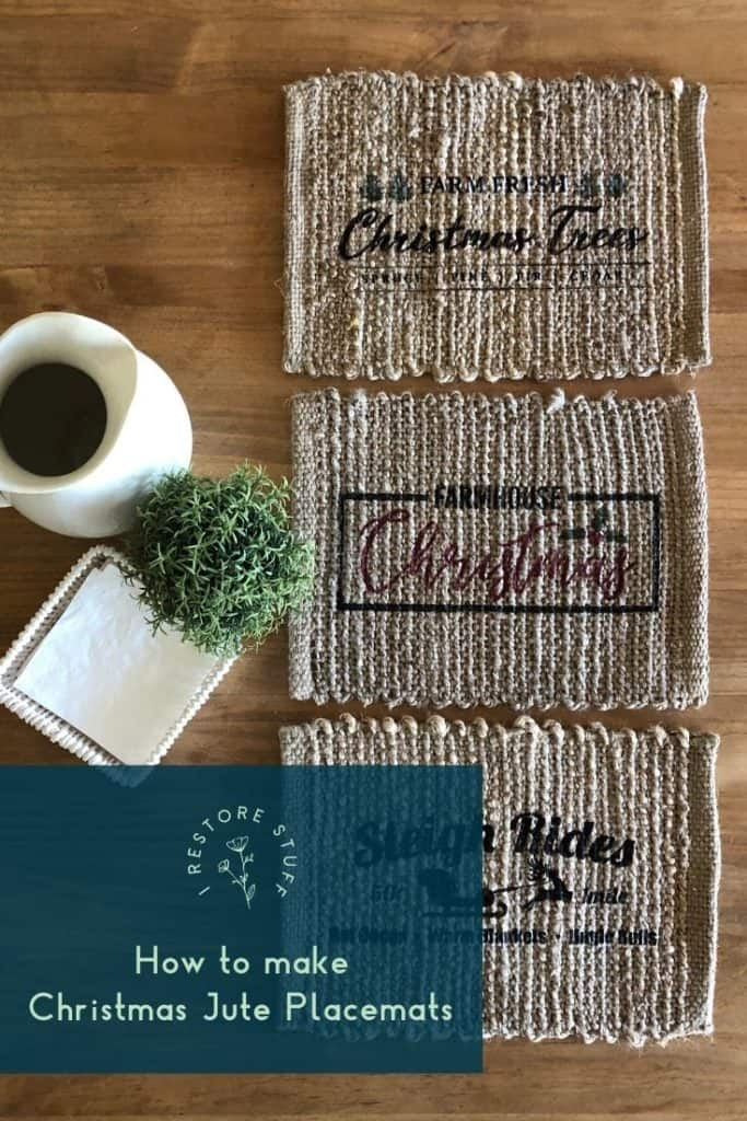 jute christmas placemats pinterest pin
