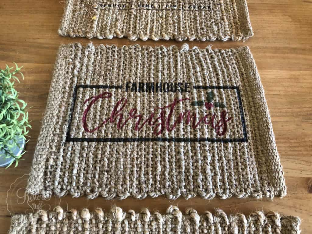 Christmas placemats Farmhouse Christmas Stencil