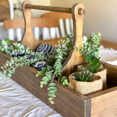 Large Table Caddy Farmhouse DIY Project