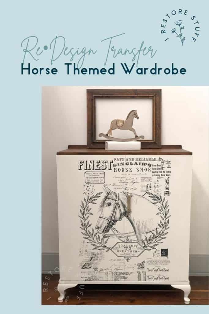Pinterest pin for horse themed wardrobe