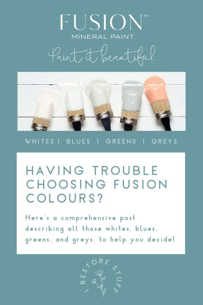 Pinterest Pin for fusion colours guide