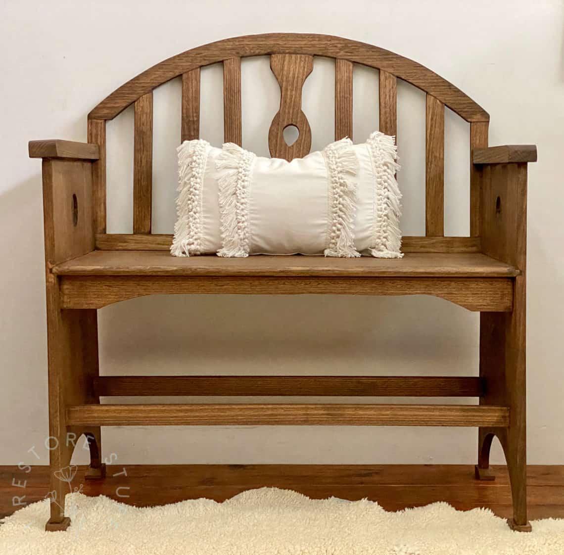 Staining A Tasmanian Oak Bench Seat