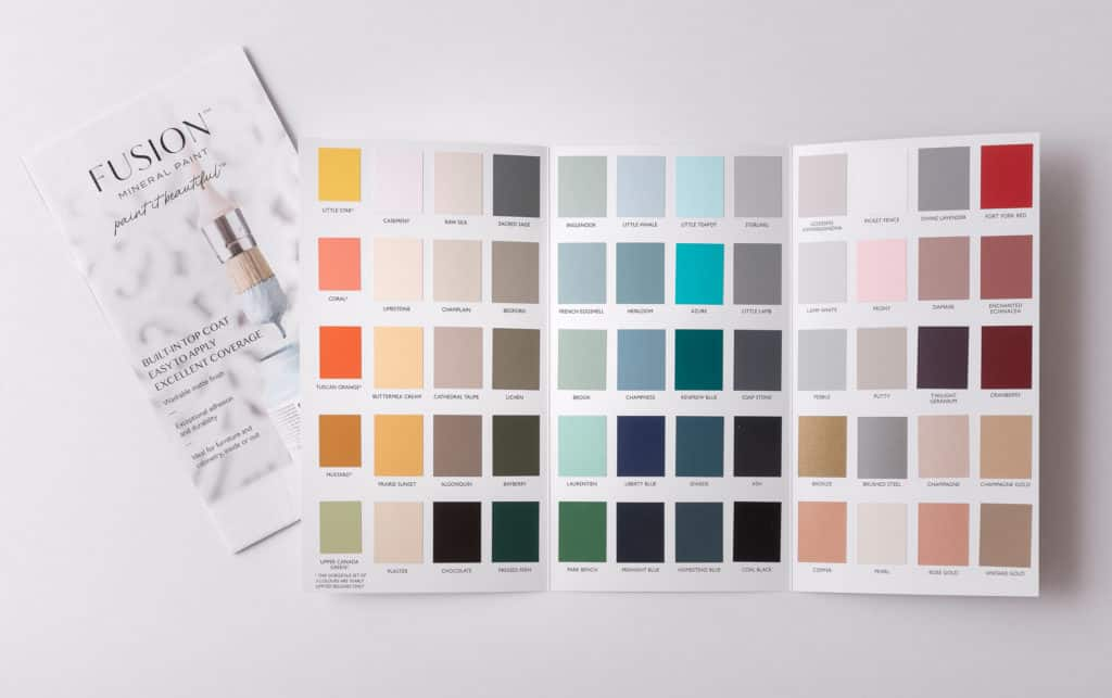 Fusion true to colour colour card swatches