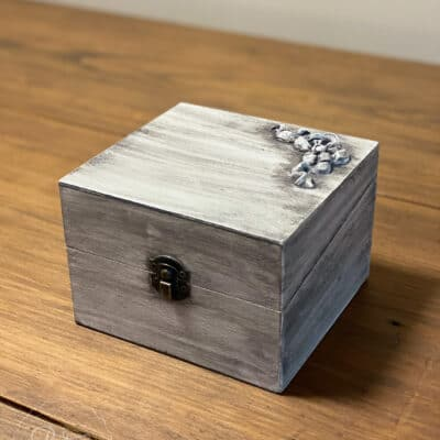 Upcycled Wooden Index Card Box