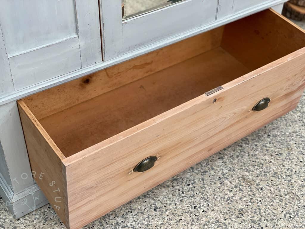 open drawer of large wardrobe