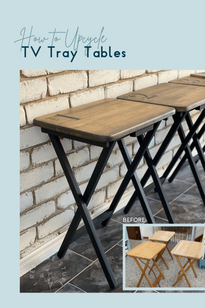 Pinterest pin for TV tray tables