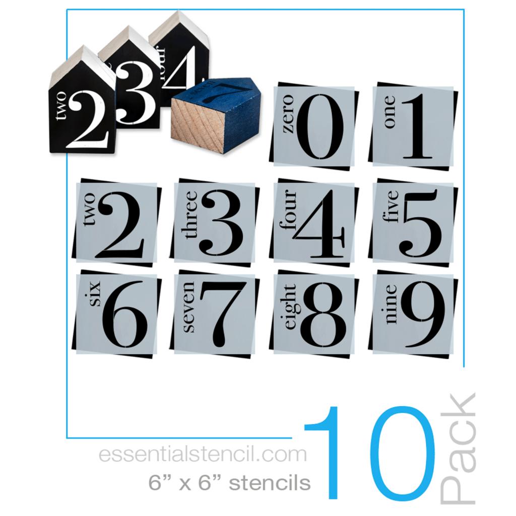 Number Stencil set by Essential Stencil