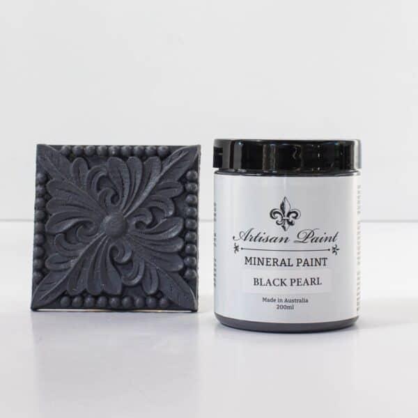 black pearl mineral paint