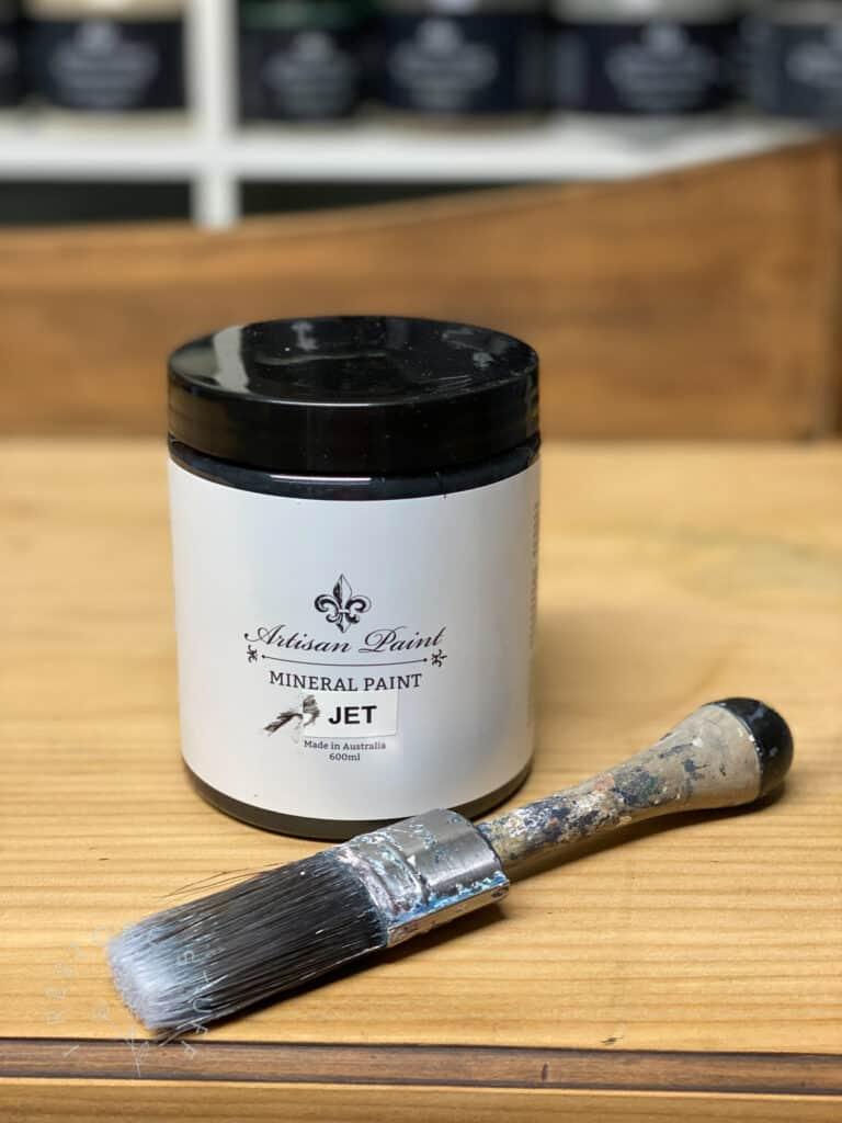 Jet black Artisan Mineral Paint
