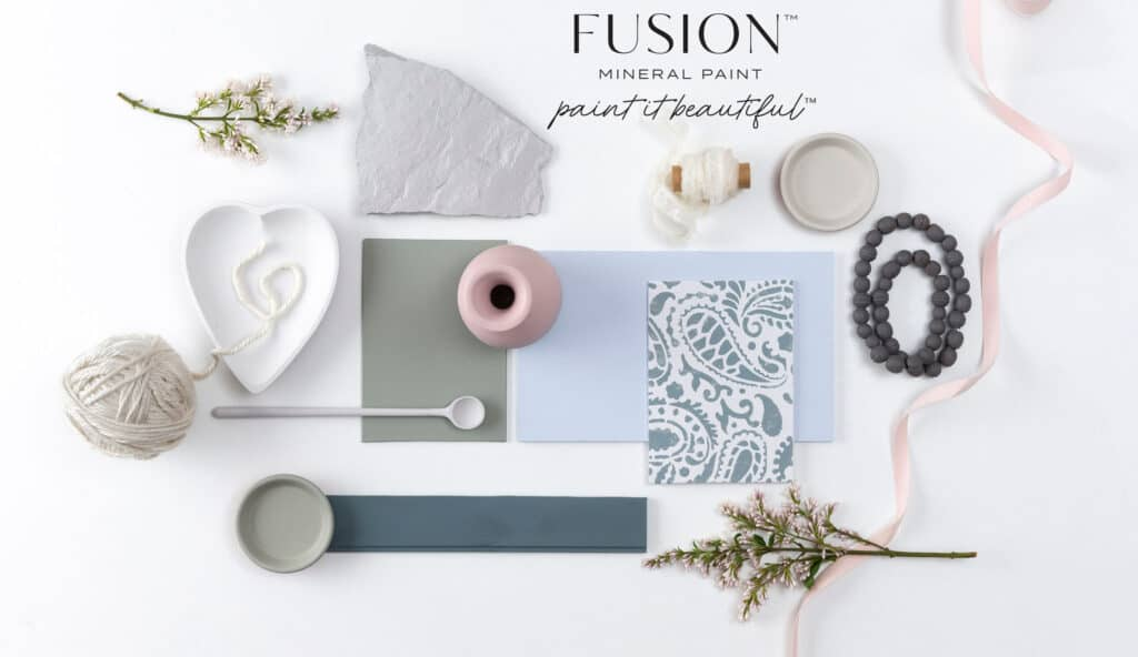 Eleven new colours in Fusion Mineral Paint range flat lay