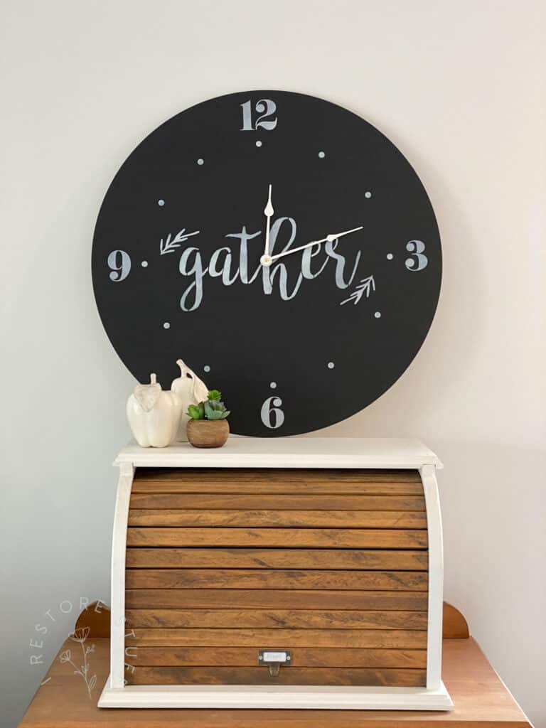 Create a farmhouse clock with Essential Stencil numbers